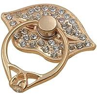 RG Metallo Telefono dell'anello di barretta Grip portatile Cellulari Holder 360 rotazioni Bling strass Diamante Style Lip Forma, Bianco