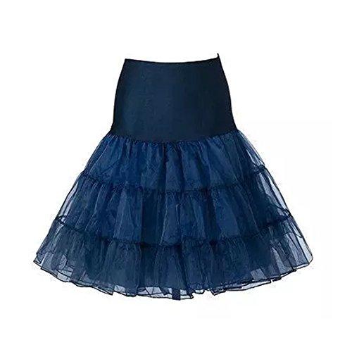FeelinGirl 50er Jahre Petticoat Vintage Retro Reifrock Petticoat Unterrock für Wedding Bridal Petticoat Rockabilly Kleid in Mehreren (Jahre Kostüme Die 50er)