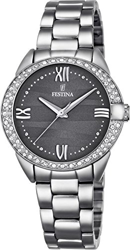 Festina F16919/3 Round Stainless Steel Ladies Watch Crystals Bracelet