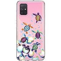 Oihxse Funda para Samsung Galaxy S6 Edge Transparente, Estuche con Samsung Galaxy S6 Edge Ultra-Delgado Silicona TPU Suave Protectora Carcasa Océano Animal Serie Bumper (C5)