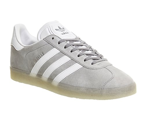 adidas Gazelle Mid Grey White Metallic Silver Grau (Grey/White 02)