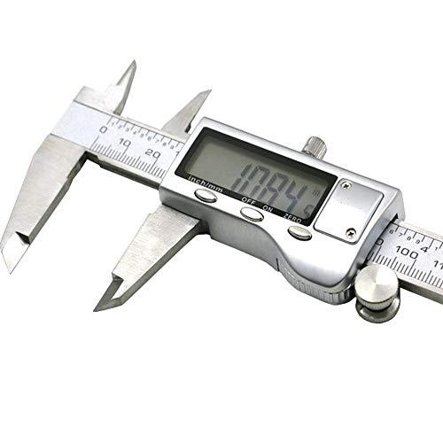 Alacrit Digitaler Messschieber,150mm/6 Zoll Hochpräzise Edelstahl Schieblehre, Digitale Schieblehre mit LCD Display für, Durchmesser Messung Tiefenmesser, Geeignet für Haushalt und Industrie