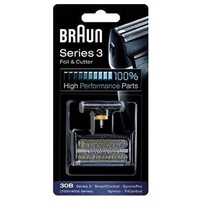 BRAUN 30B 7000 Series 4000 Series Mens Shaver Foil + Cutter Set Head Replacement from BRAUN