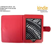 Custodia per Kindle Touch Rosso – Miglior Case per Amazon Kindle Touch, WLAN, 15 cm (6 pollici) e Ink e Book Reader – Rosso