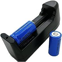 2x Bateria Recargable Li-on CR123A LR123A WY 16340 1200 mAh 3.7V y Cargador 2451c