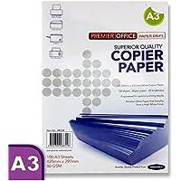 Premier Stationery Premier Depot - Carta per fotocopiatrice, formato A3, 80 gsm, confezione da 100fogli