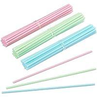 OULII Palillos del lollipop cuenta 60 6 pulgadas, cumpleaños Pop pega torta, Pastel colores cocina arte plástico se encarga de