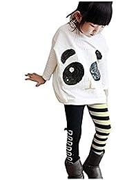 Chinatera Fille Enfant Ensemble en 2 PCS Veste Panda + Pantalon Rayure très  Mignon a0d1dd79f3b