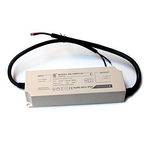 LIGHTEU®, Transformator LED Netzteil Treiber 150 W, 24V DC, 6,25 A IP65 - Konstantspannung für LED Lichtbänder und G4, MR11, MR16 -
