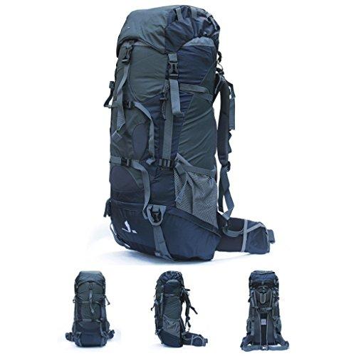 AMOS 80L große Kapazität Bergsteigen Tasche weiblichen männlichen Outdoor-Rucksack gehen Backpacker Reise Camping Schulter Tasche Licht Saphirblau