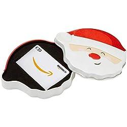 Amazon.de Geschenkkarte in Geschenkbox - 30 EUR (Lächelnder Weihnachtsmann)