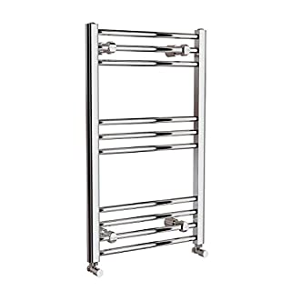 Requena Heated Towel Rail Chrome Bathroom Ladder Radiator - All Sizes (Straight, 800 x 500)