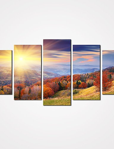 XM Set Tela / Unframed Stampa trasferimenti su tela Paesaggi