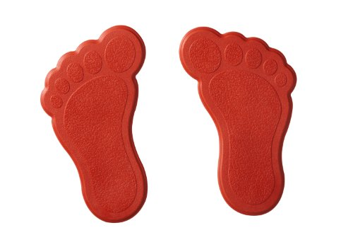 Ridder 695060-350 Mini Dusch- und Badewanneneinlage XXS Füße, rot
