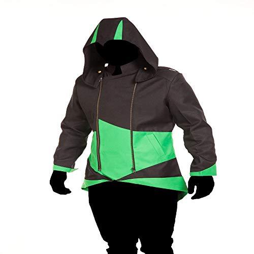 D'assassin Kostüm - COSPLA Assassin's Creed Cosplay Kostüm Jacke Anzug Strumpfhose 3D Enge Weihnachten Halloween Kostüm Für Erwachsene/Kinder Tragen D-Adult-XXL