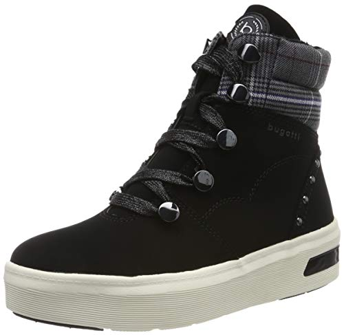 bugatti Damen 431771325569 Hohe Sneaker, Schwarz (Black/Multicolour 1081), 42 EU