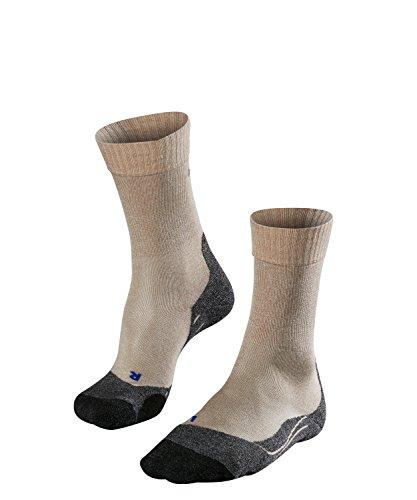 FALKE TK2 Cool Damen Trekkingsocken / Wandersocken - beige, Gr. 37-38, 1 Paar, kühlende Wirkung, mittlere Polsterung, feuchtigkeitsregulierend - Coole Socken Knie Hoch