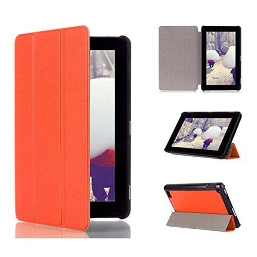 Hülle für Amazon Kindle Fire HD 7 2015 COLORFUL Leder Schutzhülle Perfekt Geeignet für Amazon Kindle Fire HD 7 2015 (Orange) (Hd7 2015 Fire Kindle Fall)