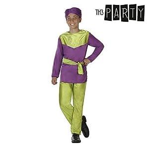 Atosa-31572 Atosa-31572-Disfraz Paje niño infantil-talla 5 a 6 años violeta-Navidad, color (31572)