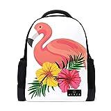 MONTOJ Flamingo Baby Polyester Reisetasche Campus Rucksack