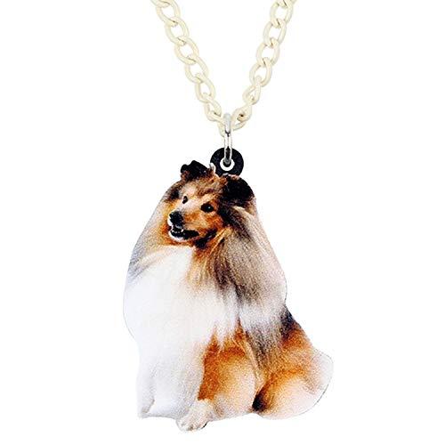 Halskette mit Anhänger aus Acryl, Motiv