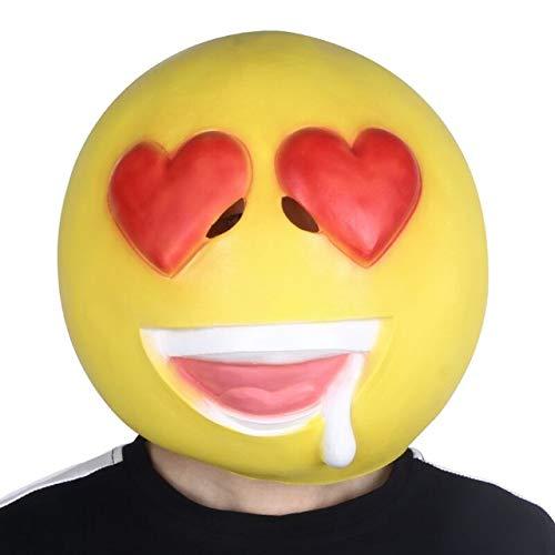 Freddy Kostüm Krueger Streich - LUOJUNHUAN Erwachsene Emoji Emoticon Big Maskottchen Kopf Funny Dress Up Kostüm Maske M x14095