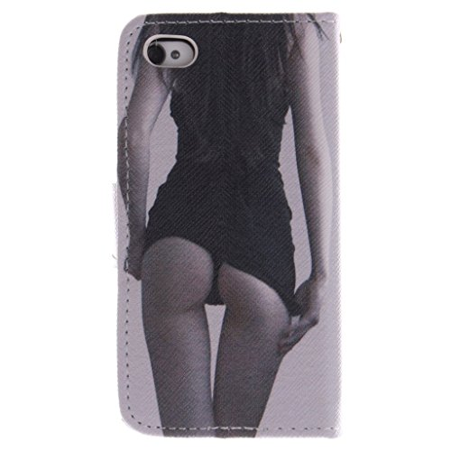 Nutbro [iPhone 4S] iPhone 4S Case,iPhone 4 Case,Leather Case,Wallet Case,Wallet Leather Case Cover,Flipcase Wallet Carry Leather Skin Cover Case ZZ-4S-3