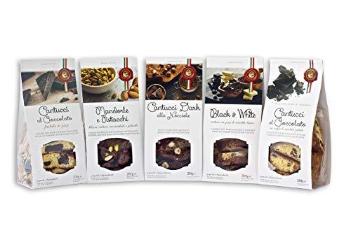 Cantucci Misti Cioccolato Cacao Nocciole Pistacchi Mandorle