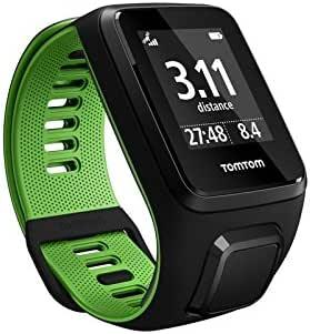TomTom RUNNER 3 Cardio - Montre de Sport GPS - Bracelet Large - Noir/Vert