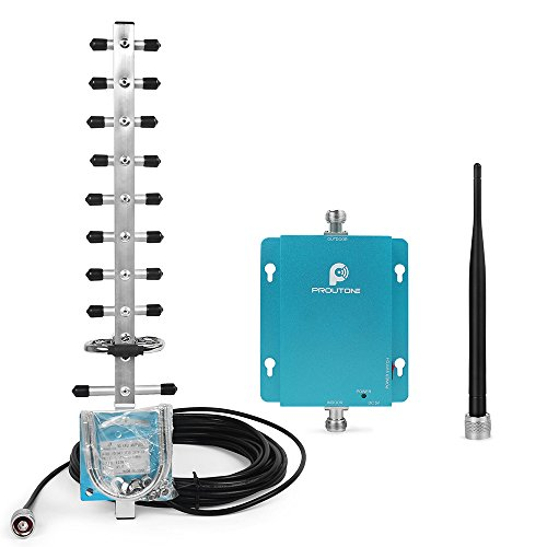 Foto de Proutone 3G WCDMA 2100MHz repetidor de la señal del teléfono móvil, amplificador de señal gsm + yagi antena con cable de 10 m