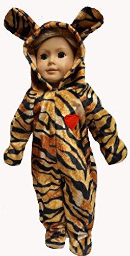 tore Puppe Tiger Halloween Kostüm verkleiden sich zum Spaß 18 Zoll (Halloween Kostüme Für 18 Zoll Puppen)