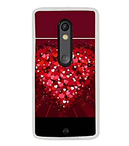 Heart of Hearts 2D Hard Polycarbonate Designer Back Case Cover for Motorola Moto X Style :: Moto X Pure Edition