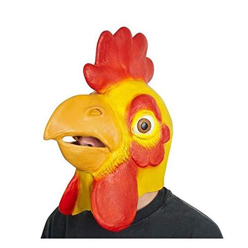 YaPin Halloween-Helm Tier Rollenspiel Hahn Maske Erwachsene Latex Spiel Fotografie Kostüm Party Maske (Friendly Skies Für Erwachsenen Kostüm)