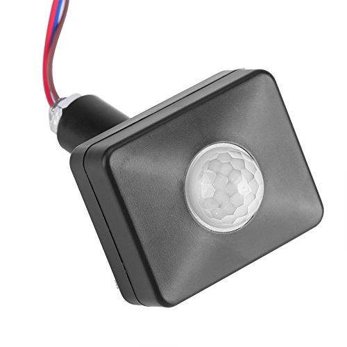 FTVOGUE Mini PIR-Schalter Infrarot Bewegungsmelder Detektor Wand Gehwegschalter (Ändern Sie Licht Wand Schalter)