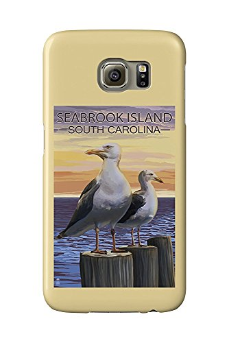 Seabrook Island, South Carolina - Seagulls (Galaxy S6 Cell Phone Case, Slim Barely There) -
