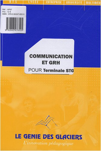 Communication et GRH pour Tle STG