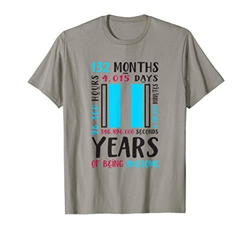 11. Geburtstag Hemd Jungen Geschenke 11 jährigen Sohn Neffe T-Shirt