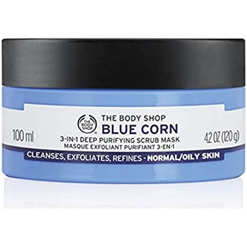 The Body Shop Azul 3En1 De Maíz Profunda Purificación De Máscara Exfoliante - 100Ml (Paquete de 6)