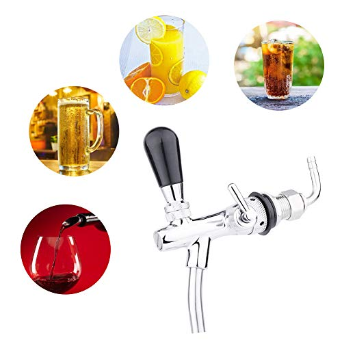 41cYufigb4L. SS500  - Beer Dispenser Faucet,G5/8 Stainless Steel Replacement Juice Cold Drink Beer Wine Barrel Faucet,Adjustable Beer Key Tap Faucet,Safe and Health,for Bars Hotels Home