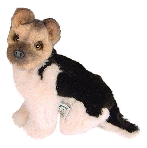 Piutrè 1311 - Plüsch sitzend Deutscher Schäferhund Welpe, 28 cm (Katze Spielzeug Cricket)