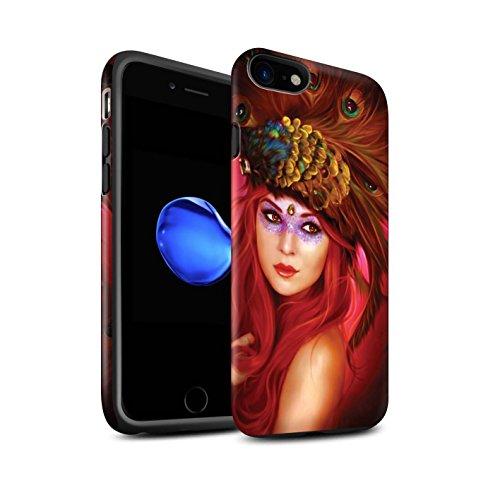 Officiel Elena Dudina Coque / Matte Robuste Antichoc Etui pour Apple iPhone 8 / Âmes Blanches/Des Bois Design / Les Oiseaux Collection Beau Paon