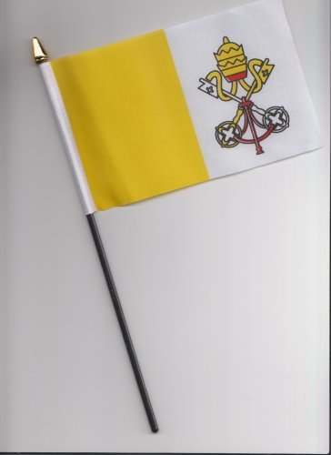 Vatican City Drapeau à main 25 cm