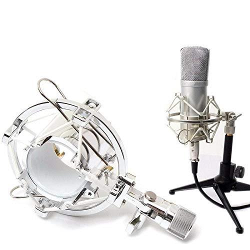K8U144 @FATO Universal Studio Radiomikrofon Schwingungsdämpfer-Desktop-Clip-Halter-Standplatz für Kondensatormikrofon (Scissor Arm Boom Mic Stand)