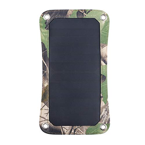 Leeec Solar Charger Cargo Outdoor Portable Solar Dual USB Mobile Power Charger Camouflage Fashion Portable Travel Solar Charger,Natural Cargo-naturals