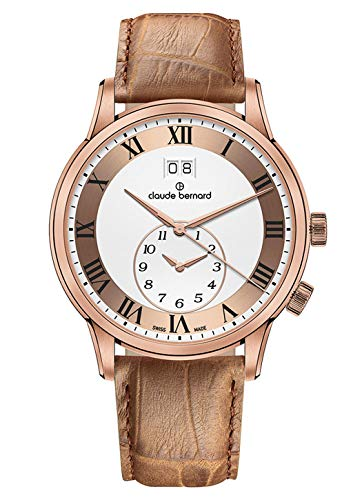Claude Bernard Men's Watch Classic GMT Large Date Analogue Quartz 62007 37R ARR