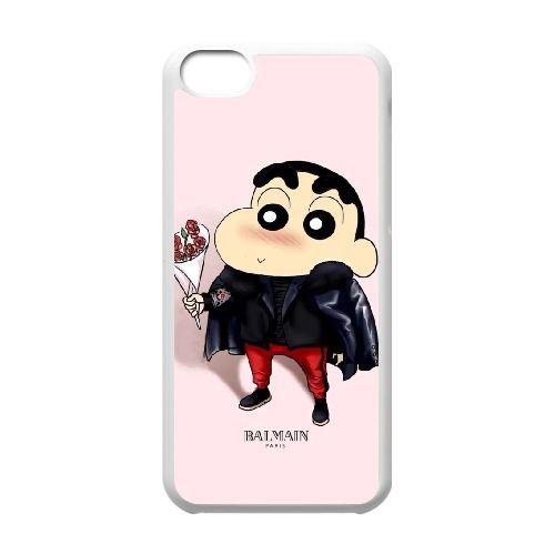 Crayon Shin Chan coque iPhone 5C Housse Blanc téléphone portable couverture de cas coque EBDXJKNBO16782