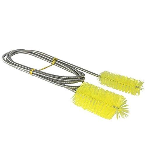 Tutoy Aquarium Doppelte Kopf Bürste Gelbe Reinigung Werkzeug Für Filter Pumpe (Kostüme Algen)