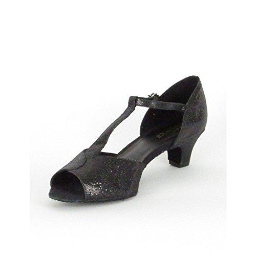 So Danca Latein Salsa Rumba Tango Tanz Schuhe BL 33 Chromledersohle, Absatz 3,8 cm Schwarz