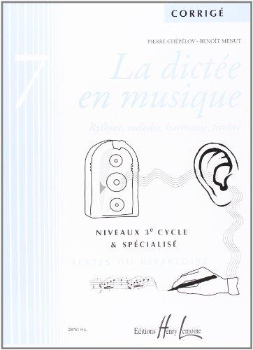 Dictée en Musique Vol.7 Professeur