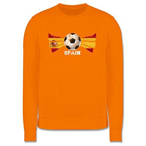 EM 2016 - Frankreich - Spain Fußball Vintage - Herren Premium Pullover  Orange